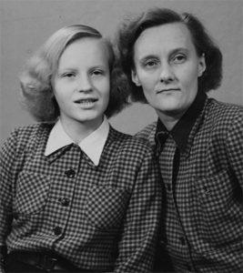 dochter Karin en Astrid Lindgren