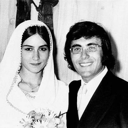 Albano Carrisi en Romina Power trouwfoto